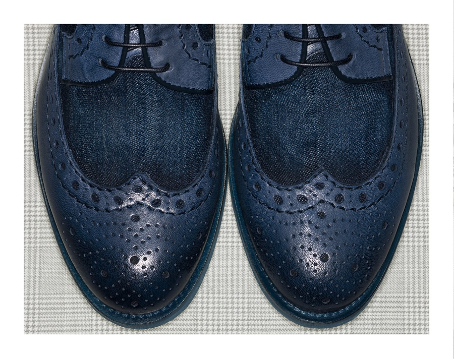 Italian brand Doucal's introduced a collection of denim shoes