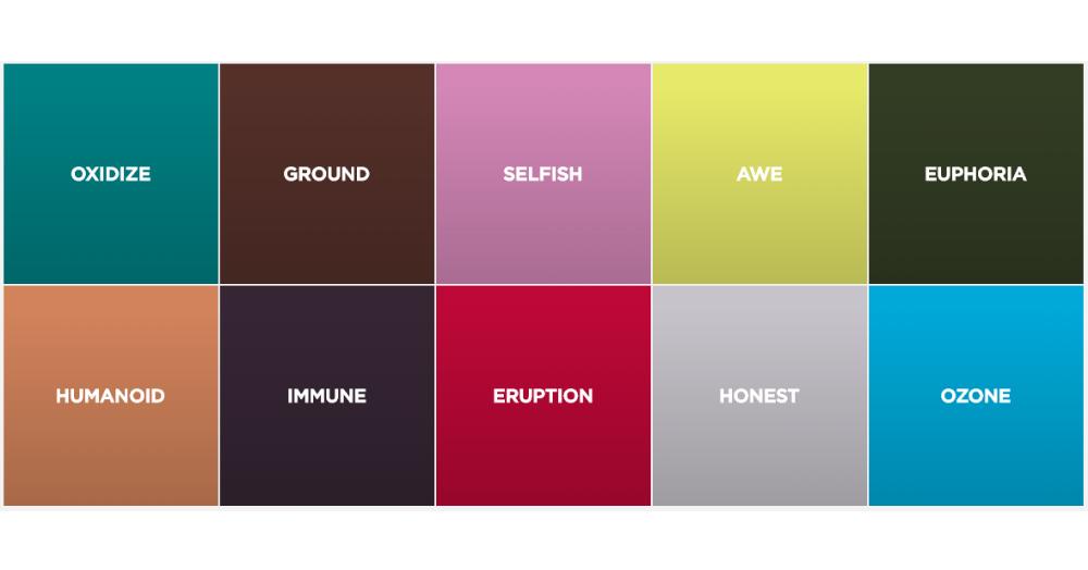 10 main colors of the season 2020