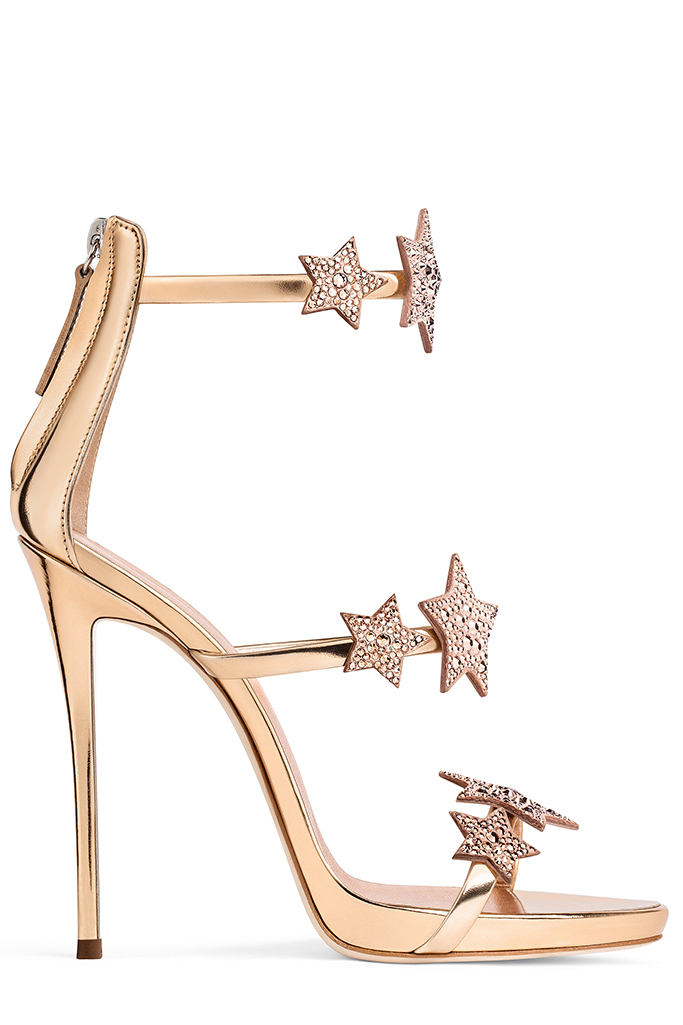 Giuseppe Zanotti has released a festive collection of shoes