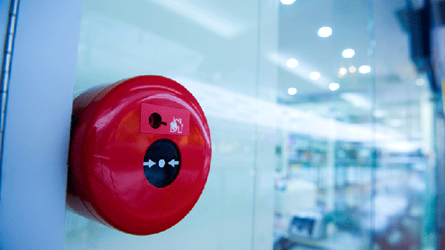 Alarm buttons will appear in the shopping center