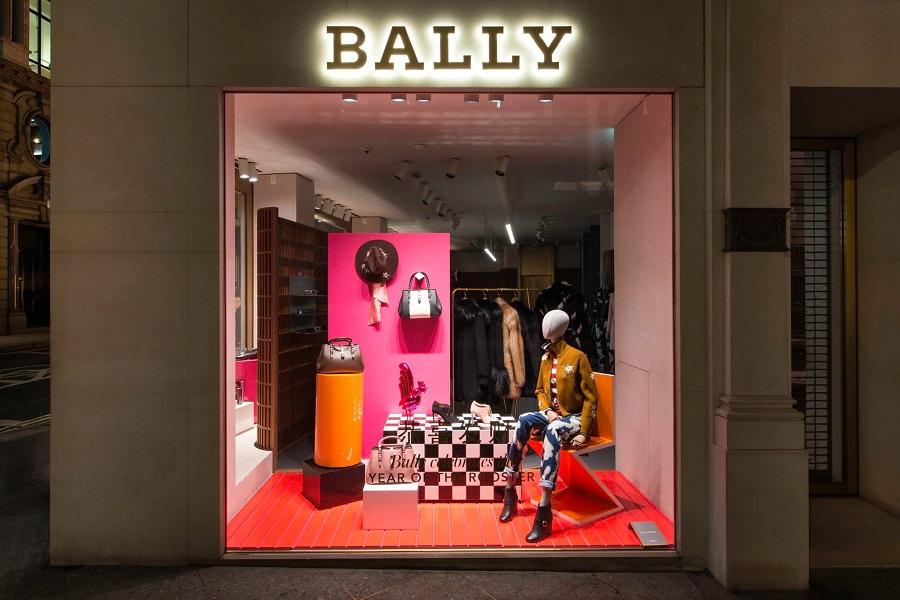 Neues Schaufenster in Ballys Flaggschiff-Boutique in London