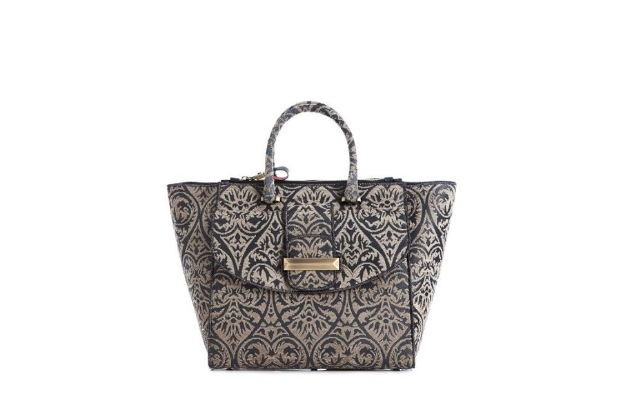 Ballin introduced a new line of bags from Venetian brocade