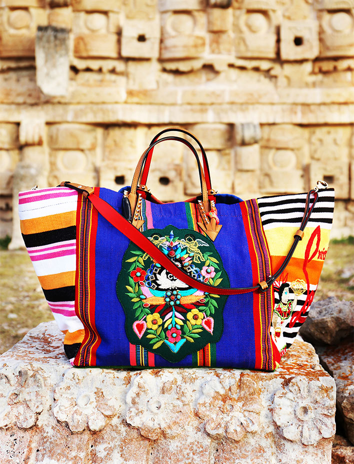 Christian Louboutin created a bag based on Mayan culture