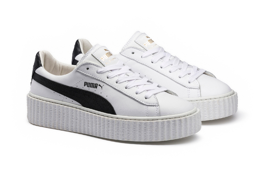 New collection of sneakers crippers from singer Rihanna and brand Puma