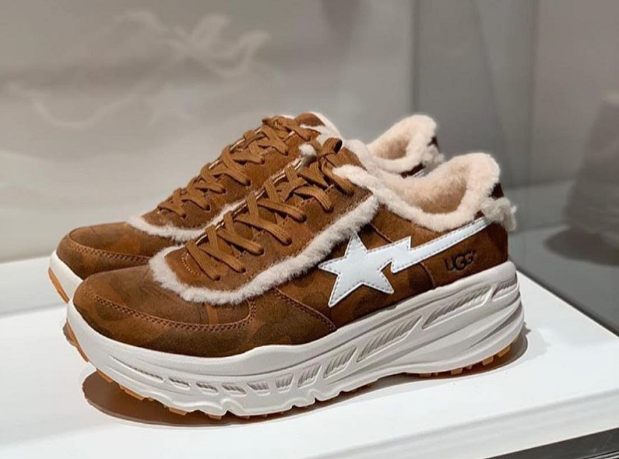 Suede and sheepleather sneakers - new at the UGG x BAPE collaboration