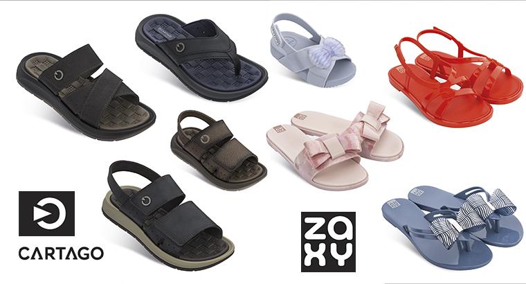 Verano en zapatillas. Zaxy y Cartago ofrecen zapatos de verano monoplásticos ecológicos