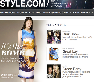 Style.com will turn into an online store