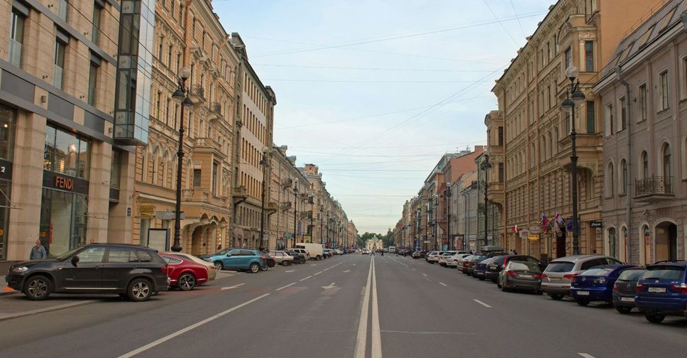 St. Petersburg has a maximum vacancy rate on the main shopping streets