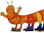 "The future chain of children's shoes ""Centipede"" has developed a logo"