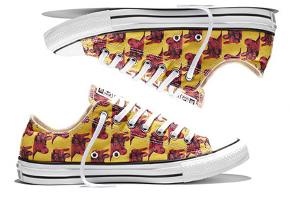 Converse released luminous sneakers with drawings of Warhol