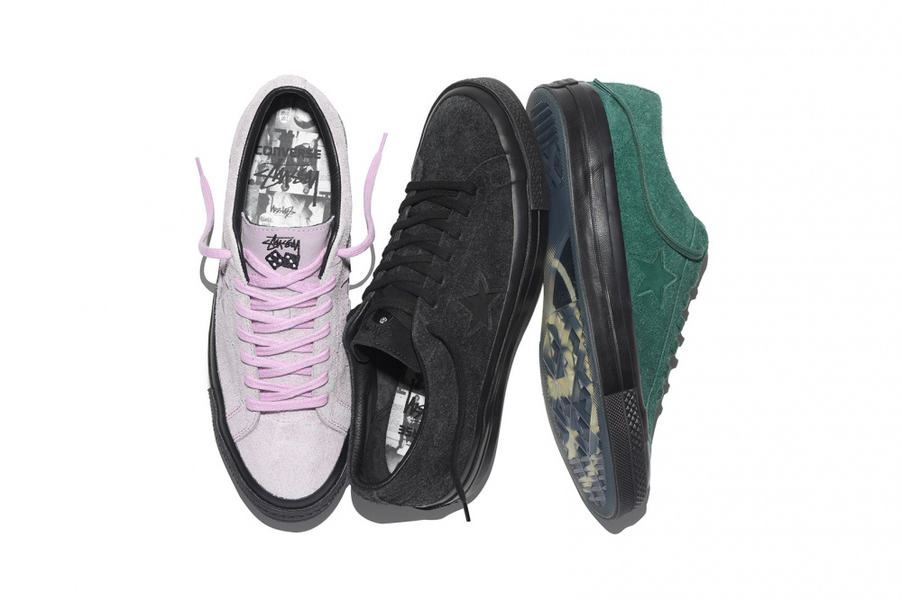 New models of Converse and Stussy sneakers