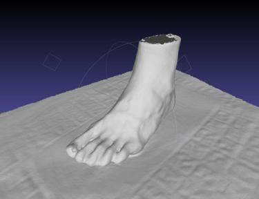 3D-scanner for determining the size of shoes created