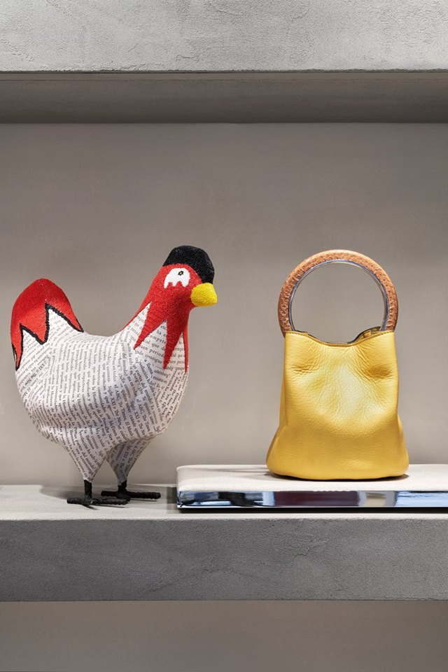 Florence's new Marni boutique features papier-mâché chicken
