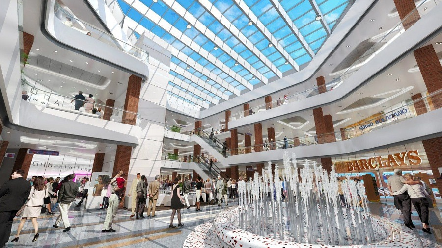 The share of free space in shopping centers in Moscow decreased