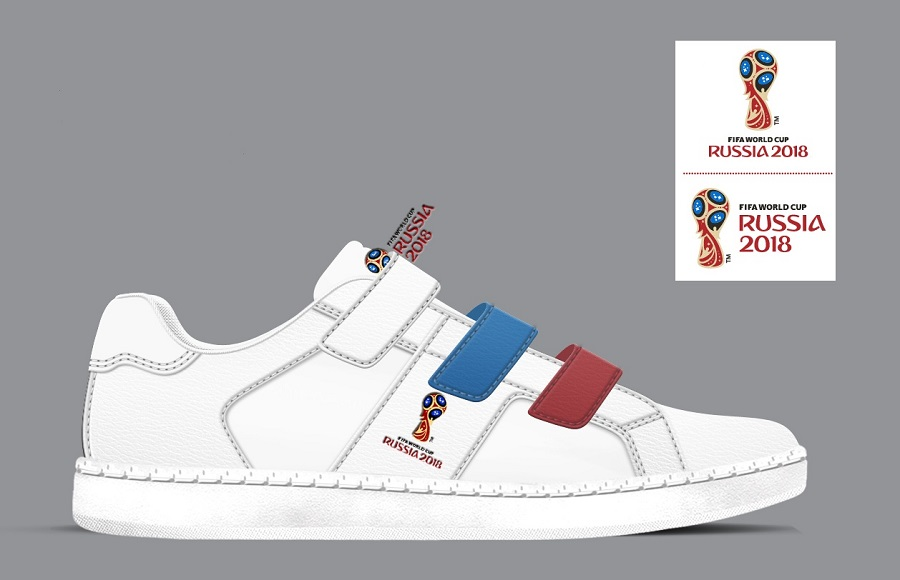 Sneakers with the symbols of the World Cup-2018 are sold through the Zenden chain of stores