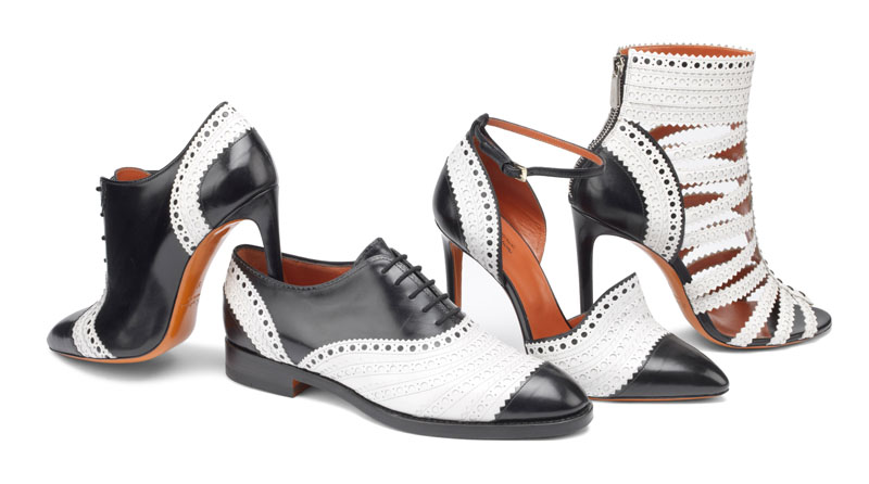 Black and white range in the Santoni fall-winter collection 2016 / 17