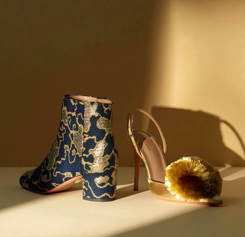 Aquazzura created a collection based on paintings by Gustave Klimt