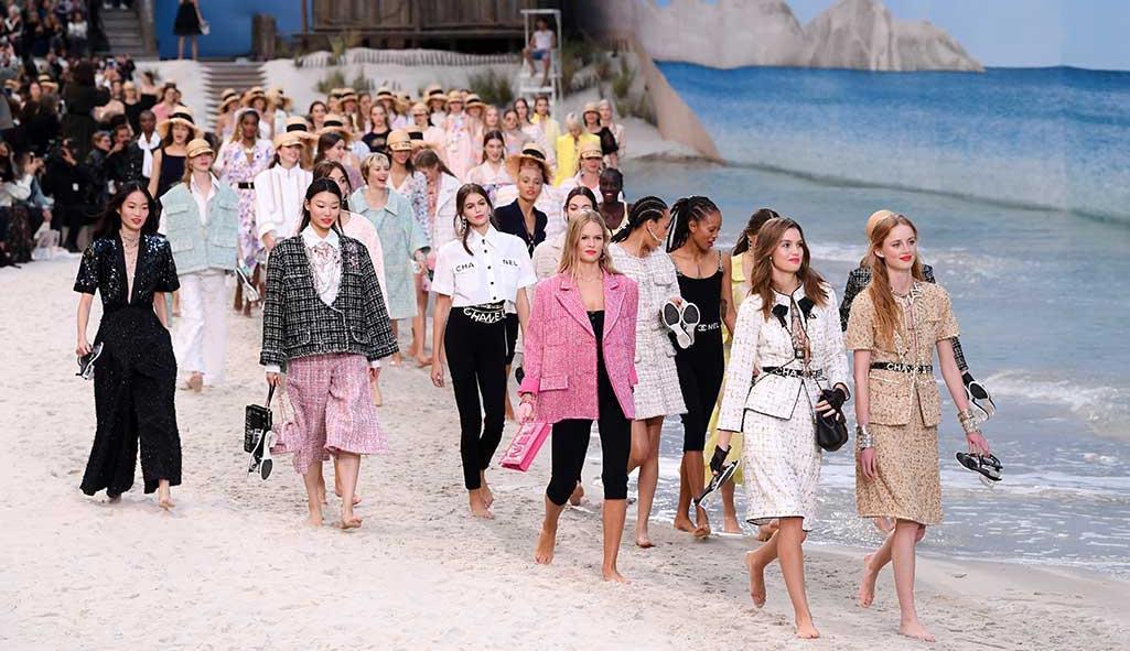 Chanel created the beach at the Paris Grand Palais
