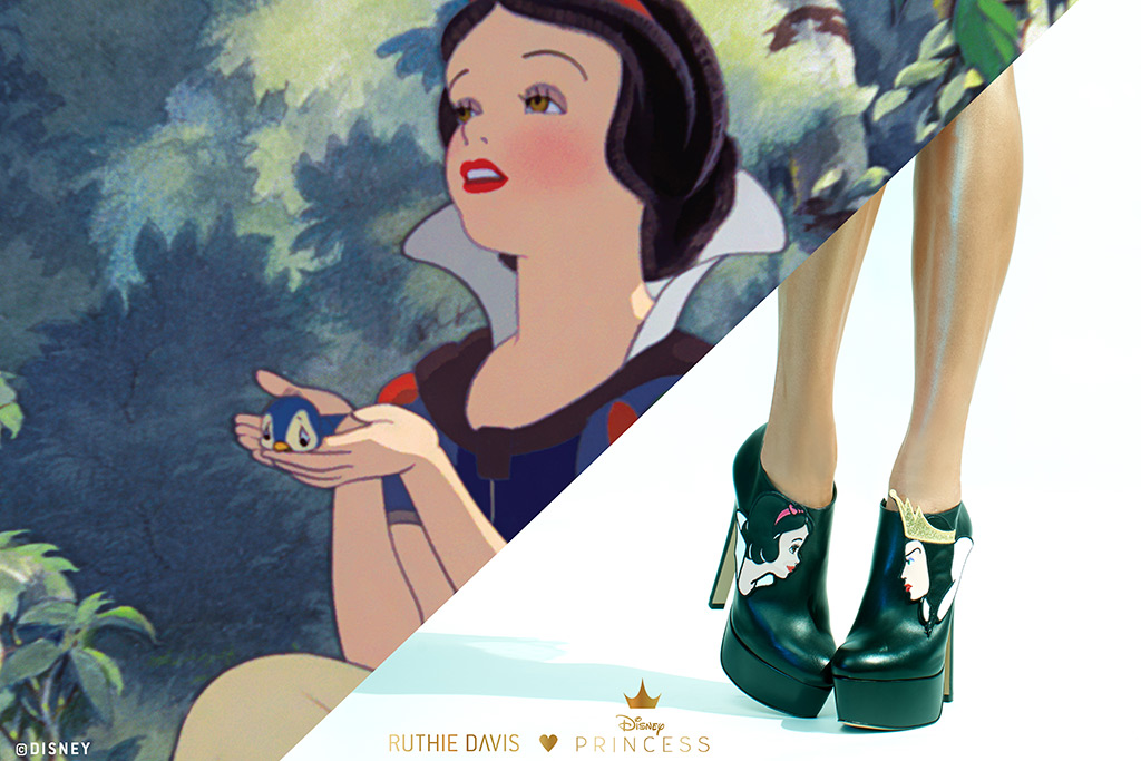 The new Ruthie Davis collection is based on the cartoon Snow White and the Seven Dwarfs.