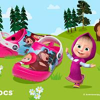 """Crocs hat Clogs mit Charakteren aus dem Zeichentrickfilm """"Masha and the Bear"""" veröffentlicht"""