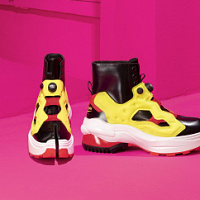 Maison Margiela x Reebok kreierte ein Schuhmodell aus Tabi-Elementen und Instapump Fury-Sneakers