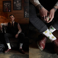 "St.Friday Socks has released a collection based on the new film by Guy Ritchie ""Human Wrath"""