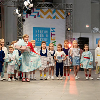 Ralf Ringer took part in the children's fashion show at Moscow fashion week